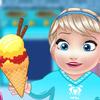 BABY ELSA COOKING HOMEMADE ICECREAM