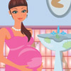 PREGNANT MOMMY CLEANING BATHROOM
