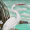 Beautiful lake herons puzzle