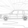 Kid's coloring: BMW