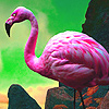 Pink lake flamingos puzzle